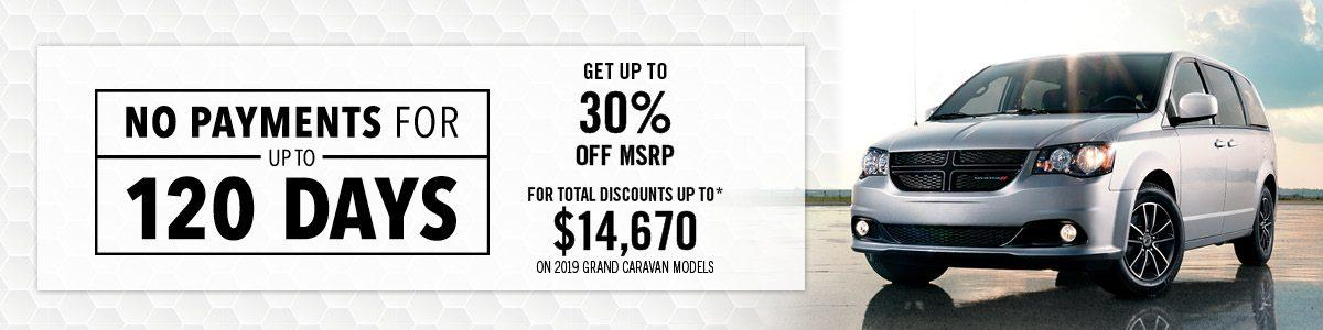 Get Up To 30% Off MSRP - NO PAYMENTS FOR UP TO 120 DAYS!